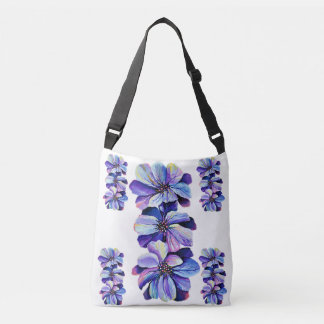 Delphinium  flowers painting crossbody bag