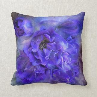 Delphinium Sea Floral Art Decorator Pillow