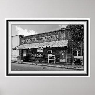 Delta Blues Club B&W vintage Photo 13 x 19 Poster