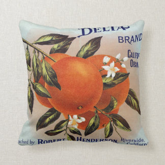 Delta Brand California Orange Crate Label Cushion