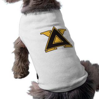 Delta Chi Badge Gold Sleeveless Dog Shirt