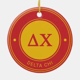Delta Chi | Badge Round Ceramic Decoration