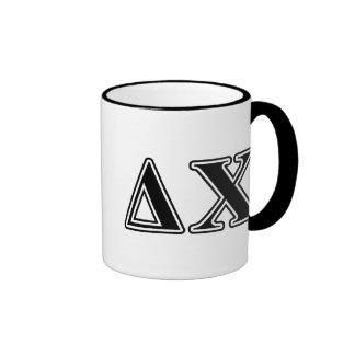 Delta Chi Black Letters Coffee Mugs