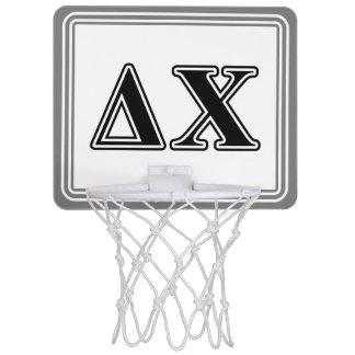 Delta Chi Black Letters Mini Basketball Backboards