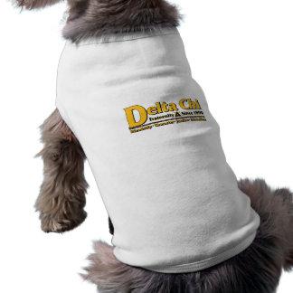 Delta Chi Name and Logo Gold Sleeveless Dog Shirt