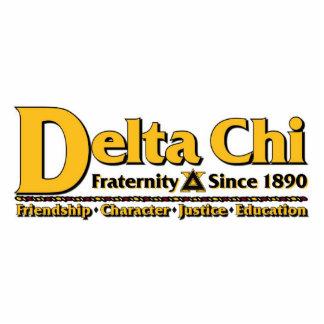 Delta Chi Name and Logo Gold Photo Cutouts