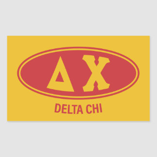 Delta Chi | Vintage Rectangular Sticker
