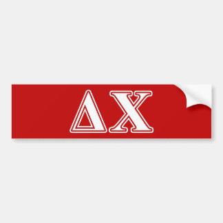 Delta Chi White and Red Letters Car Bumper Sticker