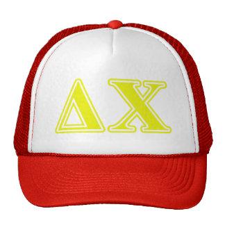 Delta Chi Yellow Letters Trucker Hat