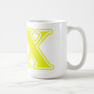 Delta Chi Yellow Letters Mugs
