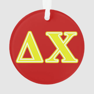 Delta Chi Yellow Letters Ornament