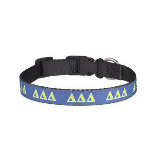 Delta Delta Delta Blue and Yellow Letters Pet Collar