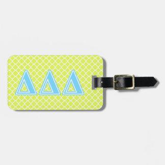 Delta Delta Delta Blue Letters Luggage Tag