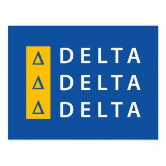 Delta Delta Delta | Stacked Postcard