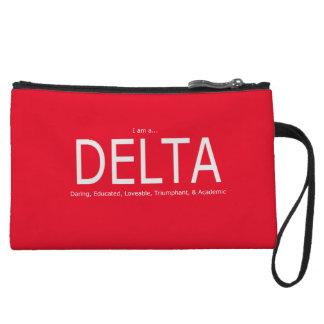 Delta Description - Red Wristlet