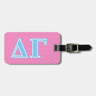 Delta Gamma Blue Letters Luggage Tag