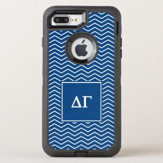 Delta Gamma | Chevron Patter OtterBox Defender iPhone 8 Plus/7 Plus Case