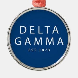 Delta Gamma | Est. 1873 Metal Ornament