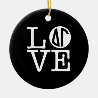 Delta Gamma | Love Ceramic Ornament