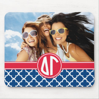 Delta Gamma | Monogram and Photo Mouse Pad
