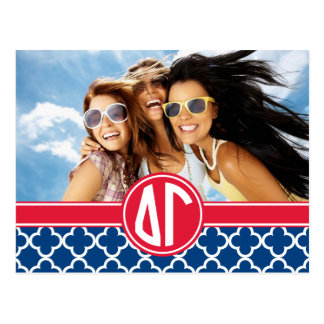 Delta Gamma | Monogram and Photo Postcard