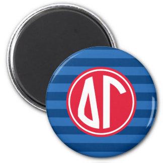 Delta Gamma | Monogram Stripe Pattern Magnet