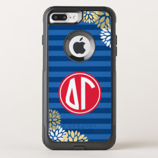 Delta Gamma | Monogram Stripe Pattern OtterBox Commuter iPhone 8 Plus/7 Plus Case