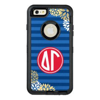Delta Gamma   Monogram Stripe Pattern OtterBox Defender iPhone Case