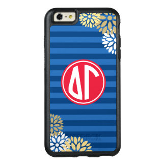 Delta Gamma | Monogram Stripe Pattern OtterBox iPhone 6/6s Plus Case