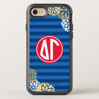 Delta Gamma | Monogram Stripe Pattern OtterBox Symmetry iPhone 8/7 Case