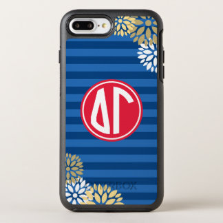 Delta Gamma | Monogram Stripe Pattern OtterBox Symmetry iPhone 8 Plus/7 Plus Case
