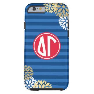 Delta Gamma | Monogram Stripe Pattern Tough iPhone 6 Case