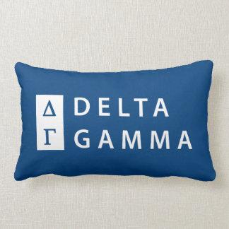 Delta Gamma | Stacked Logo Lumbar Cushion