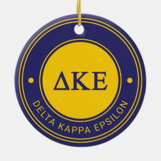 Delta Kappa Epsilon | Badge Ceramic Ornament