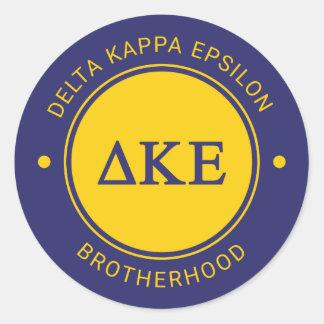 Delta Kappa Epsilon | Badge Classic Round Sticker