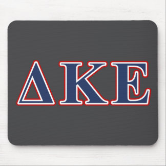 Delta Kappa Epsilon Blue and Red Letters Mouse Pad
