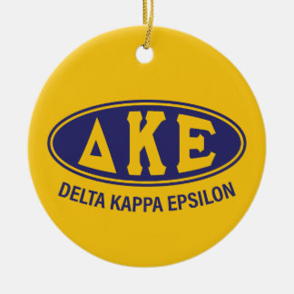 Delta Kappa Epsilon | Vintage Round Ceramic Decoration