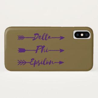 Delta Phi Epsilon Arrow iPhone X Case