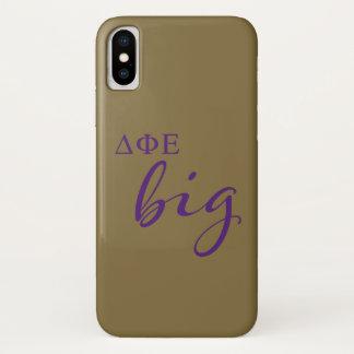 Delta Phi Epsilon Big Script iPhone X Case