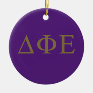 Delta Phi Epsilon Lil Big Logo Ceramic Ornament