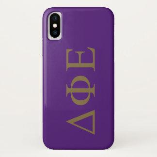 Delta Phi Epsilon Lil Big Logo iPhone X Case