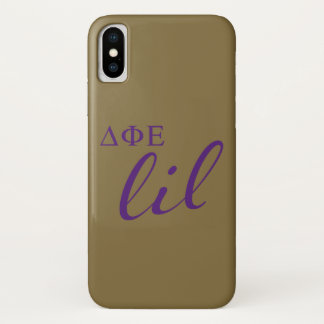 Delta Phi Epsilon Lil Script iPhone X Case