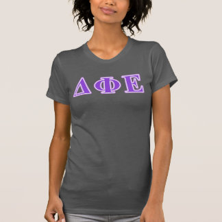 Delta Phi Epsilon Purple and Lavender Letters T-Shirt