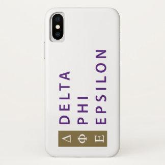 Delta Phi Epsilon Stacked iPhone X Case