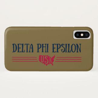 Delta Phi Epsilon USA iPhone X Case