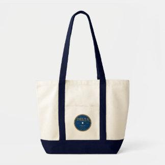 Delta Records label Tote Bags