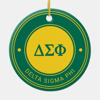 Delta Sigma Phi | Badge Ceramic Ornament