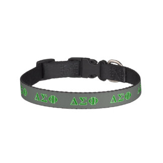 Delta Sigma Phi Green Letters Pet Collar