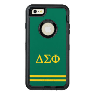 Delta Sigma Phi | Sport Stripe OtterBox Defender iPhone Case