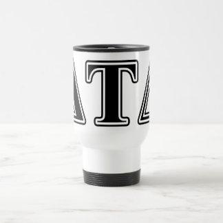 Delta Tau Delta Black Letters Mug